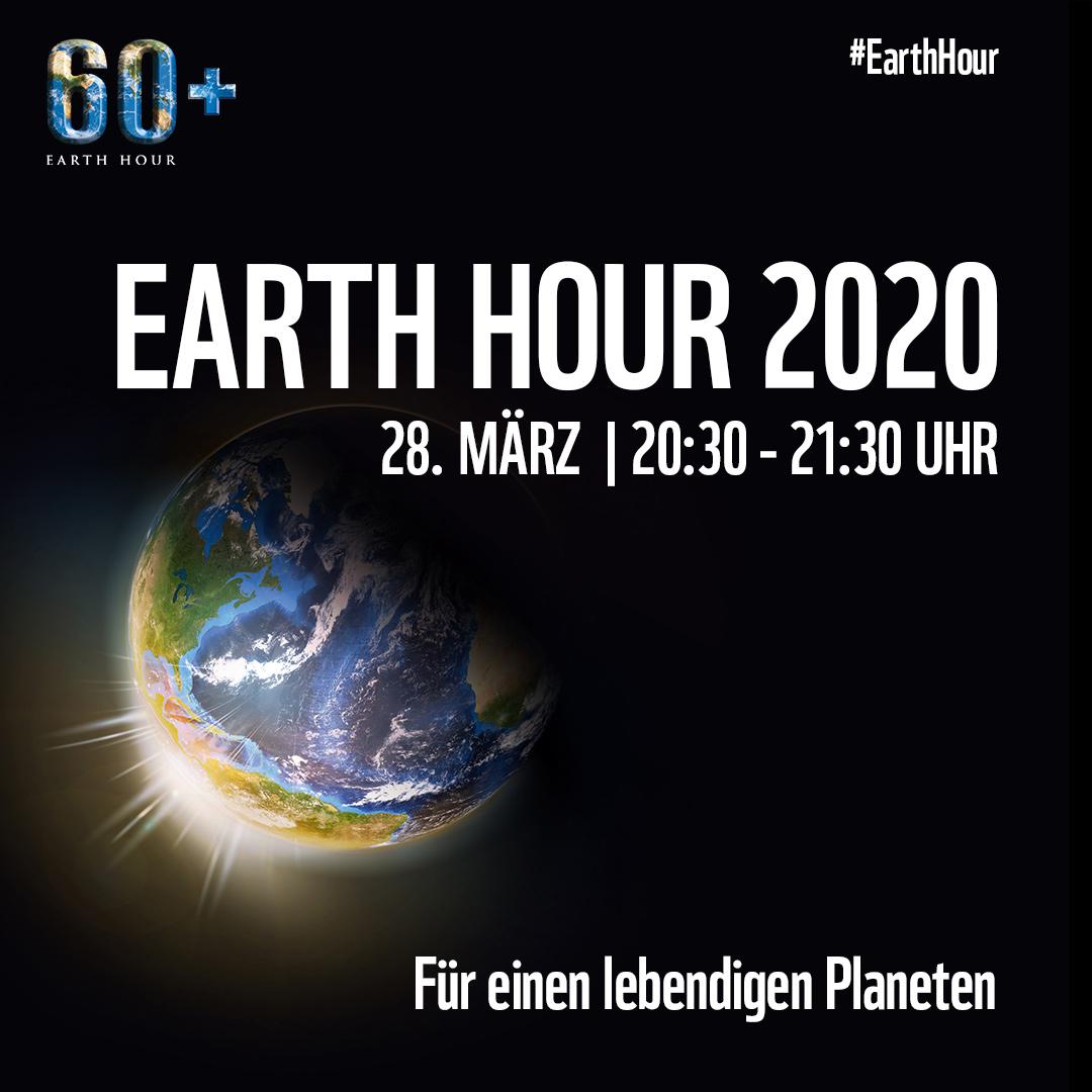 Earth Hour 2017 am Samstag, 25. März 2017